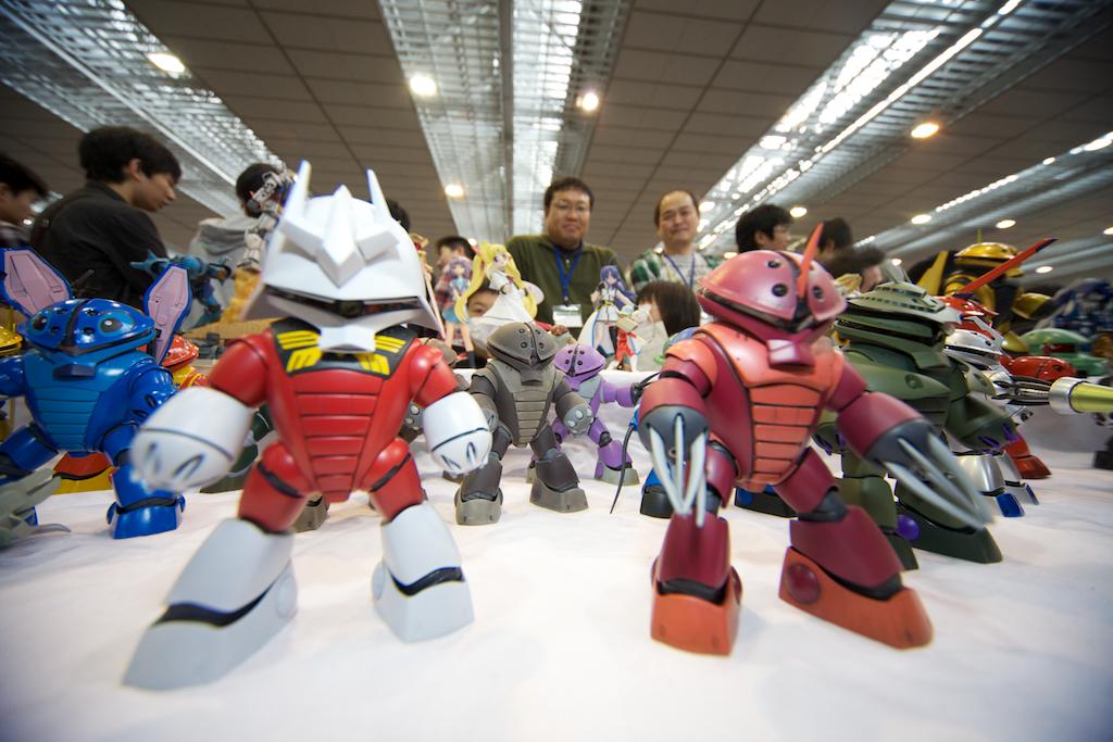 Cute, customized SD Gundam kits