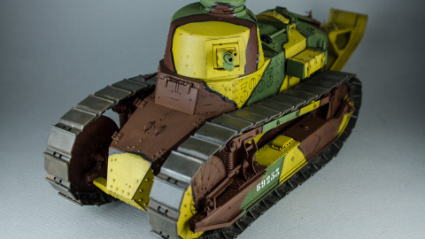 French Light Tank Renault FT Char Canon Girod Turret by Takom-4