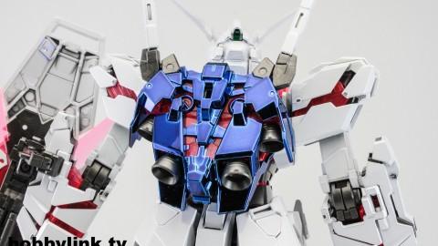1-100 MG RX-0 Unicorn Gundam (Red or Green Frame Twin Frame Edition) Titanium Finish-6