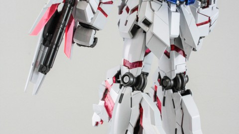 1-100 MG RX-0 Unicorn Gundam (Red or Green Frame Twin Frame Edition) Titanium Finish-7