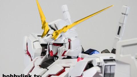 1-100 MG RX-0 Unicorn Gundam (Red or Green Frame Twin Frame Edition) Titanium Finish-9